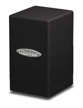 Ultra Pro Satin Tower Deck Box | Black | 1-Pack