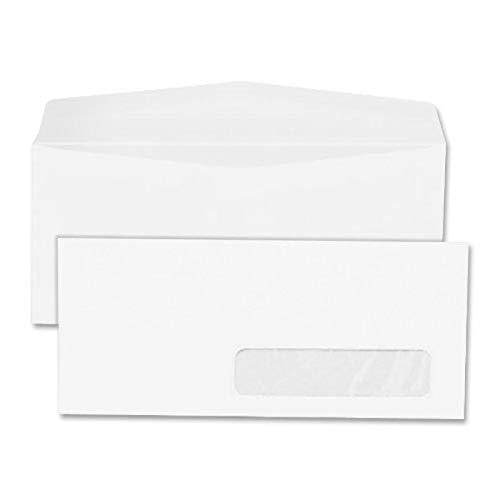 Quality Park Quality Park Right Window Business Envelopes (QUA21332), White, 4-1/8 x 9-1/2