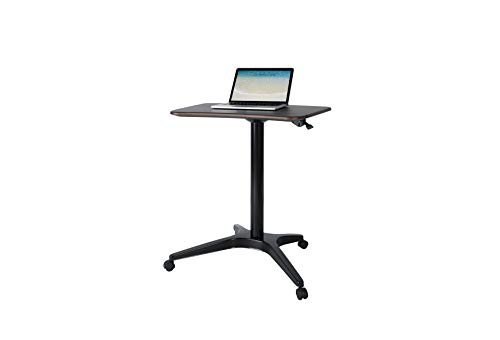 Mobile Desk, Pneumatic Adjustable Height Laptop Desk, Ergonomic Design, Sit and Stand Mobile, Excellent Lectern for Classrooms, Offices, and Home!(Black)