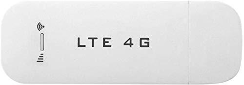 Mavis Laven USB Netzwerkadapter, WiFi Dongle 4G LTE USB Netzwerkadapter Mini WLAN Hotspot Router Modem Stick für PC Desktop Laptop(WiFi Wird Nicht unterstützt)