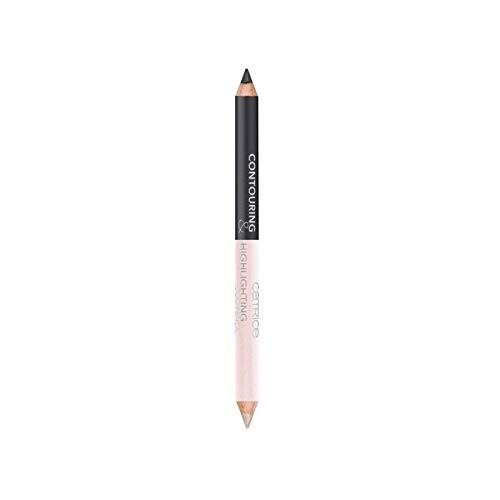 Catrice Cosmetics Contouring & Highlighting Duo Pencil Ombre foncée pour accentuer le contour des yeux et la ligne des cils, n°020 Shape Happens, 1.5 g, 0.05 oz.