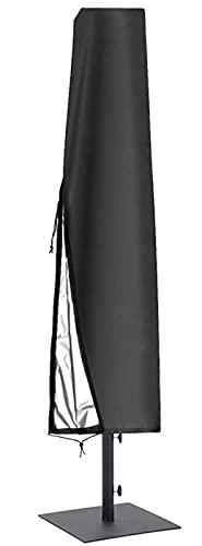 YUNZHIDUAN Funda para sombrilla, 10 Piezas de Fundas de Tela Oxford 600D, Fundas Impermeables para sombrilla de Patio para sombrilla Redonda de 10 pies/Cuadrada de 7 pies con Varilla de Empuje