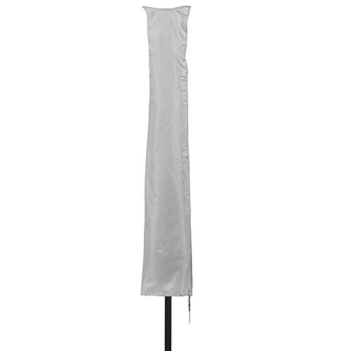 Patio Plus - Copertura parasole per ombrellone da giardino, 153 x 30 x 30 cm, impermeabile, 600D Oxford, rivestimento in PVC, colore: Argento