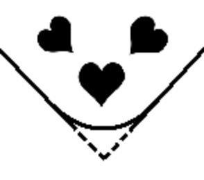 Eck Motivlocher Stanzer groß 3 Herzen Herz mit Sammelbehälter Wedo 067267
