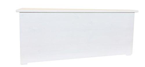 Amico Legno Cassapanca in lamellare - Cerniera A Scomparsa cod 16 120x45x47 Smalto Ad Acqua Colore Bianco