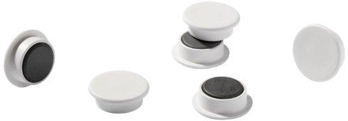 Durable 475202 Imanes, embalaje industrial, 21 mm, 210p, blanco, 20 piezas