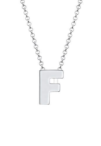 Elli Halskette Buchstabe F Initialen Trend Minimal 925 Silber