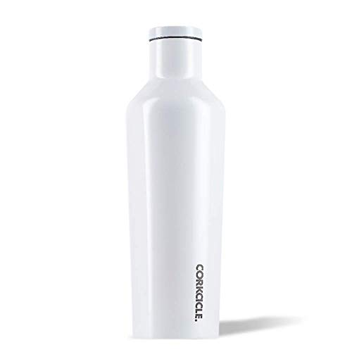 Corkcicle Canteen Water Bottle Modernist White Womens 16oz