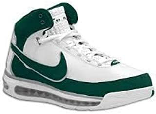 Mens Air Max Elite TB Basketball Shoes White/Green Size 11.5