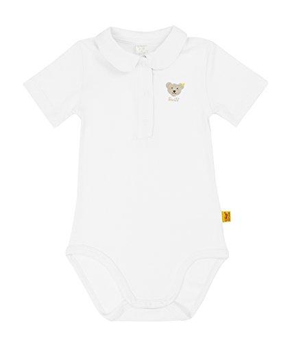 Steiff Unisex - Baby Body 0008683 1/2 Arm, Einfarbig, Gr. 56, Weiß (Bright White)