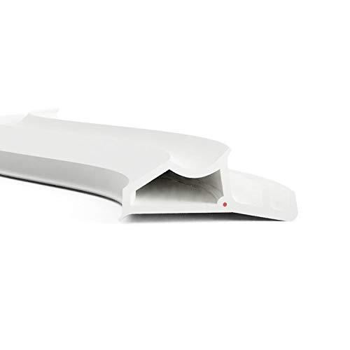 DIWARO.® Stahlzargen-Dichtung SZ003 | weiß | 5 lfm für Haus- und Innentüren. Zum Schallschutz und abdichten der Tür. Bestehend aus TPE (Thermoplastischen Elastomer)
