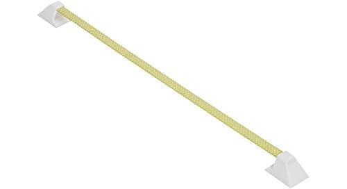 SIMON Krawattenhalter | Gürtelhalter | Handtuchhalter | Tuchhalter | selbstklebend gold | Kunststoff & Stahl mit Stoffüberzug | 400 mm | 1 Stück
