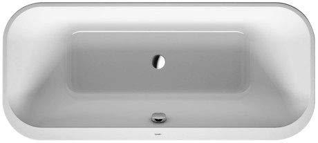 Duravit Badewanne Happy D.2 Plus 180x80cm, Freistehend, 700453, 2 Rückenschrägen, mit Acrylverkleidung, Farbe: Badewanne in Weiß mit Acrylverkleidung Weiß - 700453000000000