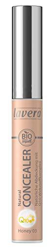 lavera Natural Concealer Q10 Honey 03- Natuurlijke afdekking ∙ Huidverzorgend ∙ Vegan Natuurcosmetica Natuurlijke make-up Bio plantaardige werkzame stoffen 100% natuurlijk (1 x 5,5 ml)