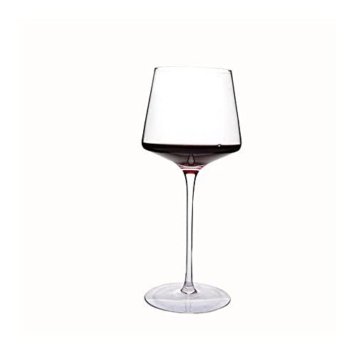 shiqi 600ml Hecho a Mano Copa de cata de vinos de Vino Burgoña Insoplión Popular Luxury Bar Hogar Juego de Bebidas Copa de Vino (Color : Clear)