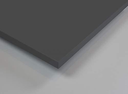 MySpiegel.de Tischplatte Holz Zuschnitt nach Maß Beschichtete Holzdekorplatte (120 x 60 cm, Anthrazit)