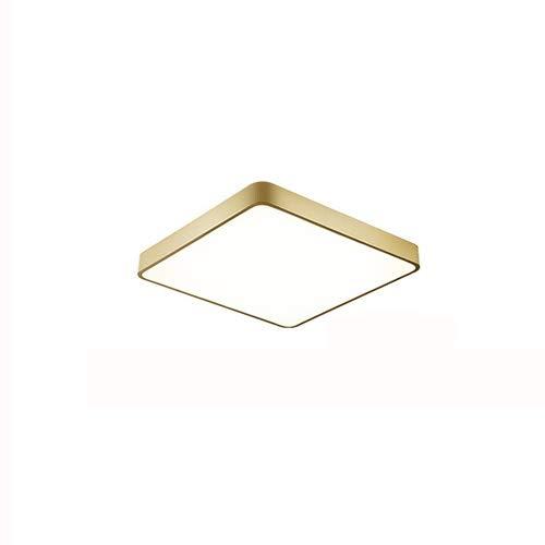 ZHANGL Minimalista Minimalista Lámpara de techo LED ultra delgada cuadrada Lámparas de sala de estar de la lámpara de techo de iluminación tricolor Iluminación de techo incrustado Cocina de techo Estu