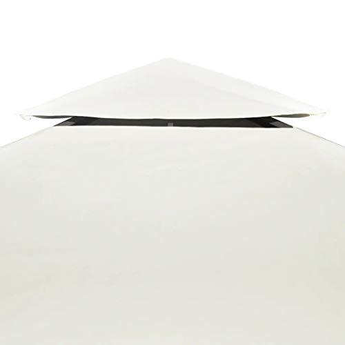 WENXIA - Funda para cenador (3 x 3 m), color crema y blanco
