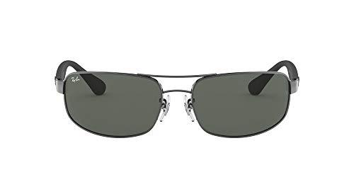Ray-Ban Junior Herren Rb 3445 Brillengestelle, Grau (Gunmetal/Crystal Green), 64