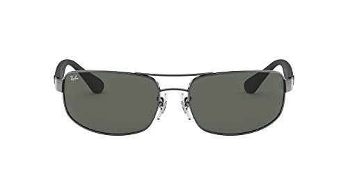 Ray-Ban Junior Herren Rb 3445 Brillengestelle, Grau (Gunmetal/Crystal Green), 64