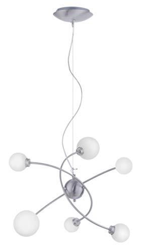 Trio Leuchten WiZ LED Pendelleuchte Dicapo 350810607, 6x3 Watt RGBW LED mit 16 Mio. Farben + 64.000 Weißtöne + 18 Licht-Szenen, Steuerung über App + Sprachsteuerung + Fernbedienung + Wandschalter