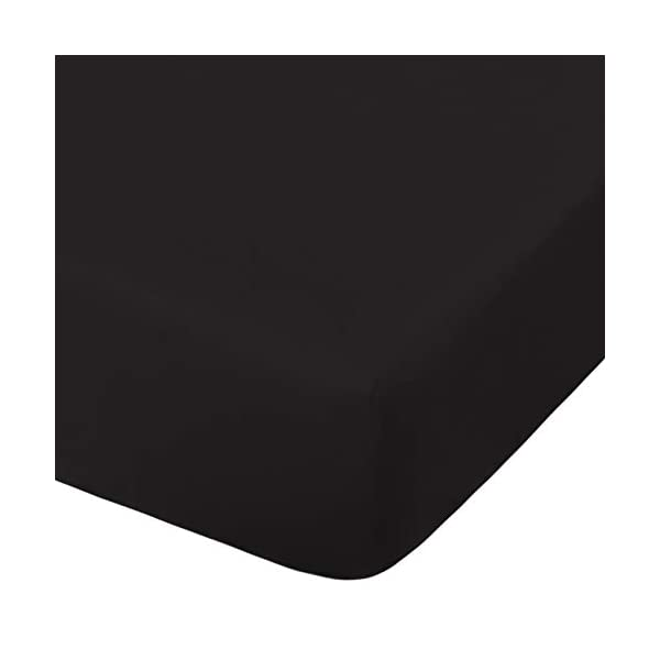 NTBAY Microfiber Crib Fitted Sheet, Cozy and Soft Solid Color Toddler Sheet, Black, 28 x 52 Inches