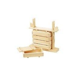 Press Yamako wooden sushi set five-stage (hinoki material) (japan import)