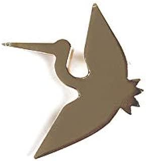 SmilePunk Origami Brass Golden Bird Paper Crane Flapping Bird Model Badge Brooch pin Japanese