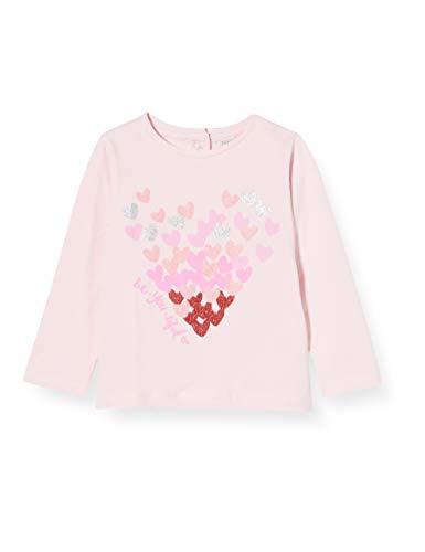 Chicco T-Shirt Manica Lunga Bimba Camiseta de Tirantes, Rosa (Rosa 018), 74 (Talla del Fabricante: 074) para Bebés