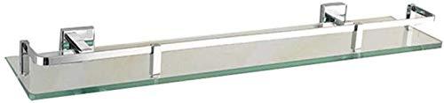 Glazen plank glazen badkamer plank wandmontage dressoir tafel met messing spoor 6 -Shelf glas badkamer plank (Maat: 81 cm) 31.5cm/12.4''