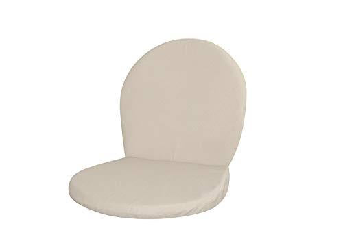 Coussin pour chaise d'extérieur Ronda avec revêtement amovible 1 Pièce couleur Ecru