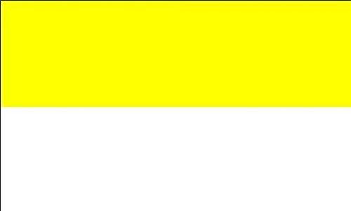 U24 Fahne Flagge Gelb-Weiß Kirchenfahne 150 x 250 cm