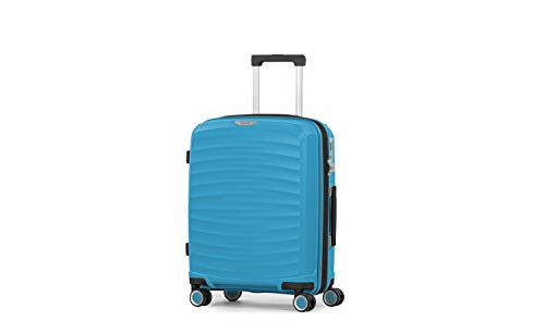 Rock Sunwave 54cm Carry On Expandable Hard Shell Suitcase Blue