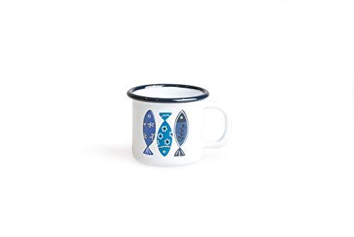 Excelsa Ocean Mug, Hierro esmaltado, Blanco