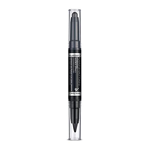 Manhattan Eyemazing Double Effect Eyeshadow & Liner – Schwarzer 2-in-1 Lidschatten & Eyeliner Stift zum Drehen – Farbe 001 In The Black – 1 x 0,7g