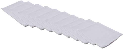 Twins Mullwindeln/Mulltücher, (Weiß), (Herstellergröße: One Size), 10er-Pack