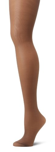 Hanes Silk Reflections Women's Alive Full Support Control Top Pantyhose, Barely Black, C