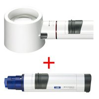 エッシェンバッハ 虫眼鏡 置き型 ライトルーペ [system vario plus] ヘッド+LEDライト付グリップのセット 5倍 58mm 155394