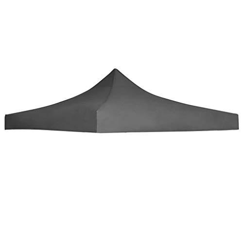 vidaXL Toit Tente Réception 3x3 m Anthracite Jardin Terrasse Pavillon Tonelle