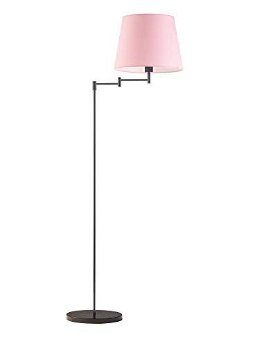 Lámpara de pie ASTI pantalla de lámpara rosa claro marco negro