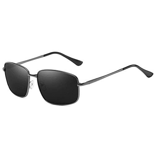 DovSnnx Unisex Polarizadas Gafas De Sol 100% Protección UV400 Sunglasses para Hombre Y Mujer Gafas De Aviador Gafas De Ciclismo Ultraligero Gun Negro