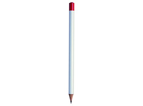 Ten Bleistift Weiss/Kappe ROT- cod.EL40010 cm 24x1,2x1,2h by Varotto & Co.