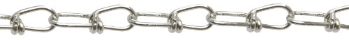 Campbell 0722087 Low Carbon Steel Inco Double Loop Chain, Zinc Plated on Reel, 2/0 Trade, 0.14