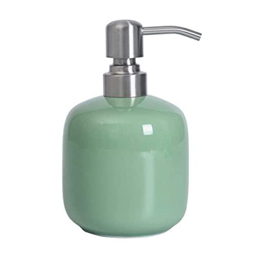 Conjunto de accesorios de baño Dispensador de jabón Dispensador de jabón Loción de cerámica rellenada Botella de loción para jabón orgánico líquido Dispensadores de mano Japones de hojamuños Lociones