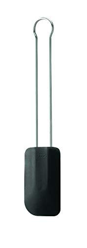 Rösle Teigschaber - Teigspachtel zum Verstreichen auf Kuchen - 18/10 Edelstahl und Silikon - schwarz - 26 cm - spülmaschinengeeignet