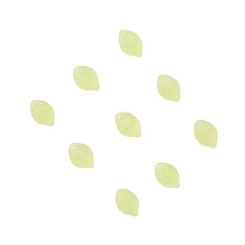 Stiesy 20 Piezas de Cristal checo Limón Perlas Frutas Espaciador Perlas Sueltas Graneles para DIY Pulsera Collar Hacer