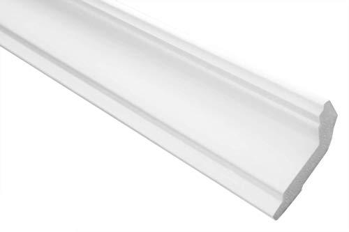 Marbet Deckenleisten aus Styropor XPS - Hochwertige Stuckleisten leicht & robust im modernen Design - (20 Meter Sparpaket E-32-28x51mm) Wandleiste