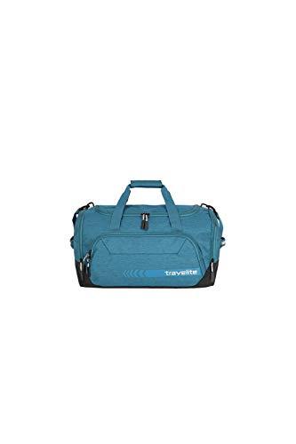 travelite Reisetasche Größe M, Gepäck Serie KICK OFF: Praktische Reisetasche für Urlaub und Sport, 006914-22, 50 cm, 45 Liter, petrol (türkis)