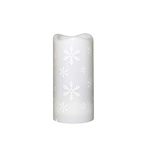 Romdink LED Projektions Lampe Rotierenden Timer Fernbedienung Künstliche Kerze Projektionslicht für Weihnachtsfeiertagsfeier(Schneeflocke Projektor), Perfektes für Geburtstage,Weihnachten,usw