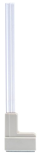 Master Magnetics MSHL03X6 Magnetic Sign Holder for 12 Sign, 90 Degree Magnetic Base with Acrylic Strip, 2.28 L, 0.79 W, 14.8 Overall, Clear, White (Pack of 6)